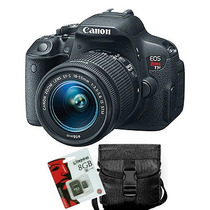 Canon T5i Eos Rebel Kit 18 55 Full Hd Wifi + Sd8gb + Bolso!!