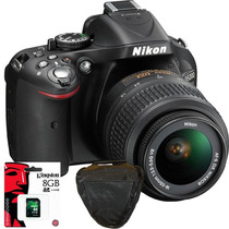 Nikon D5200 Kit 18-55 24mpx Full Hd+ Sd 8gb C10+ Bolso Y Más