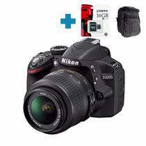 Nikon D3200 Full Hd 24mp Kit 18-55 Vr + Memo 16g C10 + Bolso