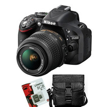 Nikon D5200 Kit 18 55 Vr Full Hd 24mpx + Sd8gb + Bolso! Gtia