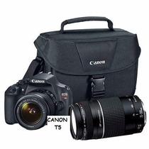 Canon T5 Eos Con 2 Lentes 18-55 Y 75-300+bolso Mar Del Plata