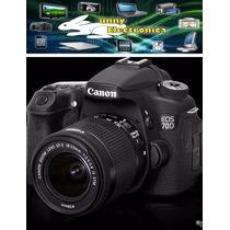 Canon 70d Kit 18-55 Wg 2 Unidades Stock Y Garantía