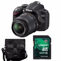 Nikon D3200 Kit 18-55mm+ Memo 16gb C10+ Bolso+ Envío+ Gtia!!