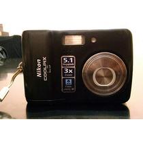 Nikon Coolpix L3 Con Funda Y Cargador De Pilas