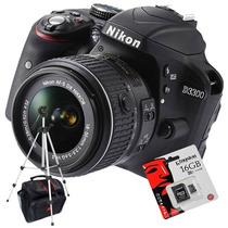 Nikon D3300 Kit 18-55mm Vr+ Sd 16gb C10+ Bolso+ Trípode!!!!!