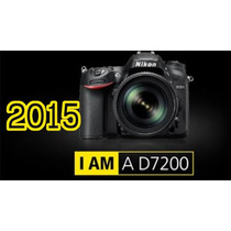 Camara Profesional Nikon D7200 Kit18-105 + Memoria 16gb C 10