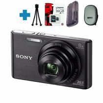 Sony W830 20mp Zoom 8x Hd + 16g C10 + Funda + Tripode Y +!
