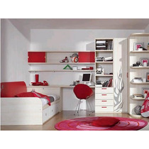 Dormitorio Juvenil, Infantil, Cama Cucheta, Nido, Desplazada