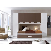 Dormitorio Juvenil Cama Con Cajon Inferior Placard (mj-01)
