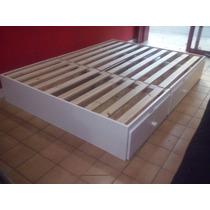 Cama Box De 2 Plazas Con 4 Cajones C/ Guias Metalicas!!!!!