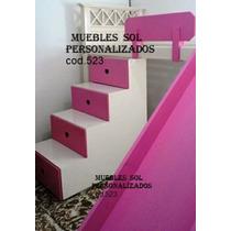 Cama Puente Princesas +escaleracajonera +tobogán. Laca!