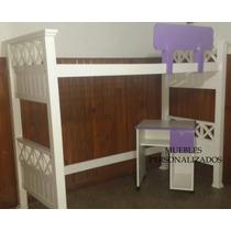 Laca.cama Puente Personalizada + Escritorio -laqueada.