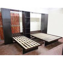 Cama Rebatible Vertical Doble 1 Plaza - 2 Plazas!!!