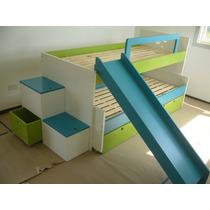 Camas Nido Puente Infantiles Juveniles Laqueadas Diseño