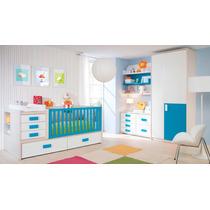 Dormitorio Bebe + Placard + Comoda