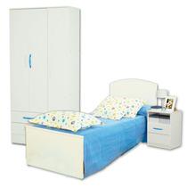Juego Dormitorio Cama Infantil Fiona + Placard 23 + Mesita