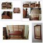 Juego Dormitorio Cama 2pzas Algarrobo Macizo + Espejo Regalo