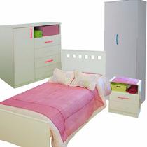 Dormitorio Juvenil Cama Mesita De Luz Comoda Placard Mosconi