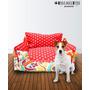 Camitas Para Mascotas Perro Gato Floreada Reversible - 50x40