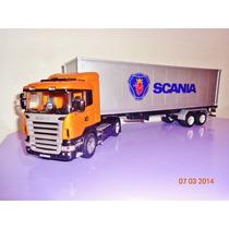 Scania R-470 1/32 Con Semi Porta Contenedor.welly