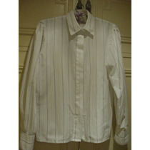 Impecable Camisa Blanca De Mangas Largas - Talle S - Mujer