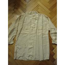 Camisa Import. Tipo Seda, Amarilla T. Small Clarita Delicada