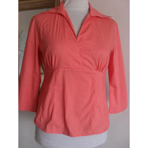 Fadma Blusa Camisa Mng Talle L Impecable Color Salmon