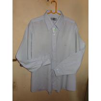Camisa De Vestir M/ L Christian Dior Color Celeste T.42 L50