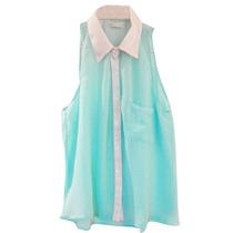 Clippate Mujer Camisa De Gasa Combinada Casual Envio Gratis