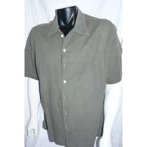 Camisa Cardon Verde Militar Mangas Cortas Xl
