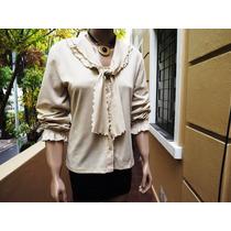 Camisa De Vestir Blusa Volados Voladito Varios Modelos (c)