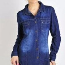 Camisa De Jeans Semielastizada