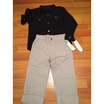 Conjunto Camisa Y Pantalon Nene Calvin Klein Talle 4