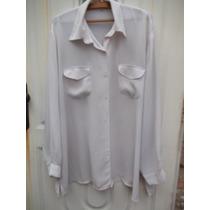 Camisa Camisola Blanca 3 X L Especial Crepe O Seda
