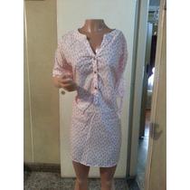 Blusa Gasa Mujer Estampada 3 Botones T Xl A Xxxl $ 330