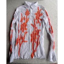 Camisa Entallada Elastizada Femenina Importada. Talle S 38