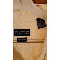 Camisa Liz Claiborne From Usa 100% Irish Linon