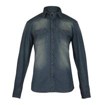 Camisa Wrangler Union Denim M/l Hombre Azul (05433119168901)
