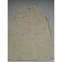 Santa Barbara Blusa Camisa Sin Mangas 100% Algodon