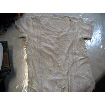 Lote Dos Blusas Camisa Blanca Beige Y Blancaa Indu Entallada