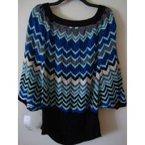 Blusa Importada Crochet ..zig Zag Talle L