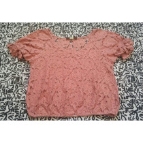 Remera Tipo Blusa Encaje Talle Especial Xl Rosa Dior