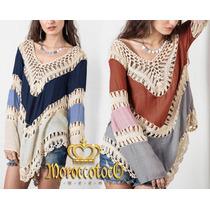 Blusa Hippie Crochet Importada