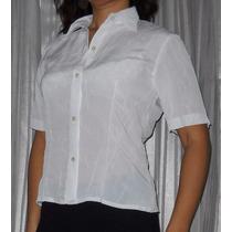 Camisa Manga Corta Clasica Oficina Arrugada No Se Plancha