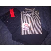 Camisas Cuggini Slim Fit Sport 40 + Jeans Lacroix T:44