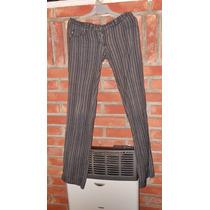 Pantalon Rayado Tela Cloque ( Gabardina ) Talle 1