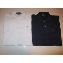 Lote De 2 Chombas Polo Ralph Lauren Azul Y Blanca