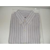 Camisa De Hombre Legacy Talle 2 Color Lila Con Lineas Azules