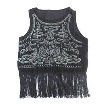 Divina Camisola Blusa Negra Con Strass Nueva Talle M - L