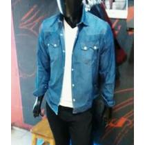 Camisa Jeans Broche 2 Bolsillos Hombre